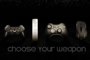 Wallpaper Controllers Bw Playstation Wii Xbox Pc Hd, Black