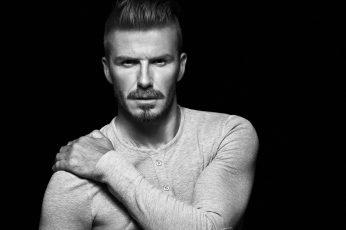Wallpaper David Beckham, Football Player, Bw, Black And White