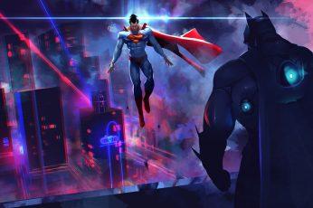Wallpaper Dc Comics Superman Vs Batman Illustration