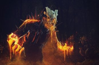 Wallpaper Dead By Daylight, Trapper, Video Games, Burning