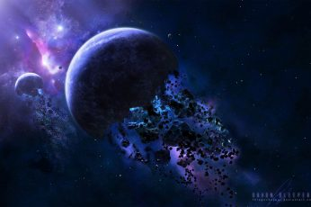 Wallpaper Destroyed Planets Digital, Space, Galaxy