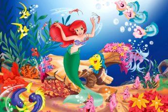 Wallpaper Disney The Little Mermaid, Movies