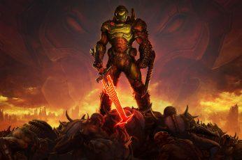 Wallpaper Doom Game, Doom Guy, Doom 2016