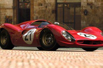 Wallpaper Ferrari 330 P4, Ferrari 330, Sports Car, Red
