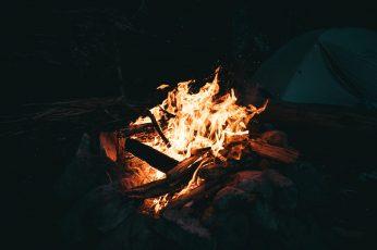 Wallpaper Firing Wood, Flame, Burn, Fire, Campfire, Camp