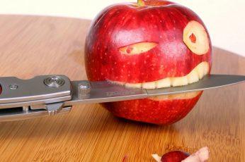 Wallpaper Funny, Apple, Food, Fruit, Fresh
