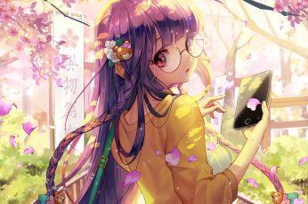Wallpaper Furyou Michi Gang Road, Anime Girl, Glasses