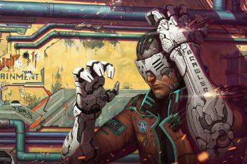Wallpaper Game Application Screenshot, Cyborg, Science Fiction