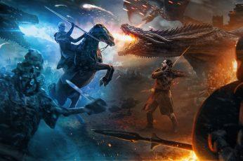 Wallpaper Game Of Thrones, War, Battle, Aegon Targaryen