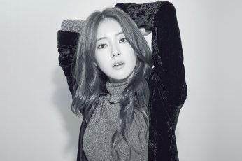 Wallpaper Girl, Bw, Leeseyoung, Actress, Kpop, Korean