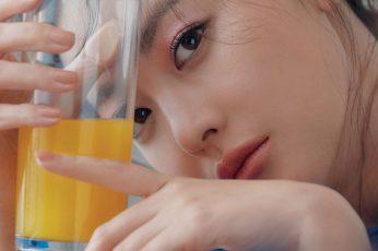 Wallpaper Girl, Kpop, Korean, Asian, Juice, Orange