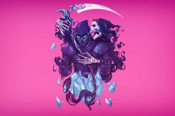 Wallpaper Grim Reaper Illustration, Artwork, Video Game