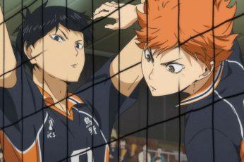 Wallpaper Haikyuu!!, Hinata Shouyou, Kageyama Tobio, Anime