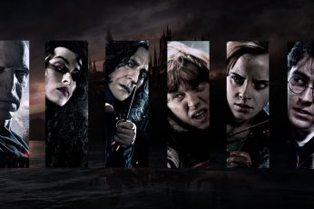 Wallpaper Harry Potter Characters Collage, Movies