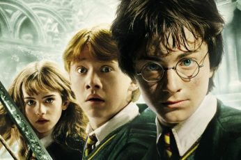 Wallpaper Harry Potter, Hermione Granger, Ron Weasley