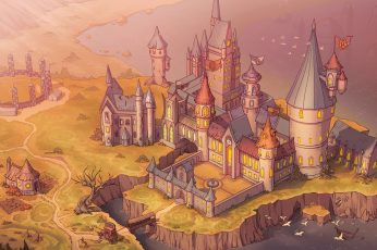 Wallpaper Harry Potter, Hogwarts, Castle