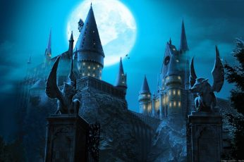 Wallpaper Harry Potter, Hogwarts Castle