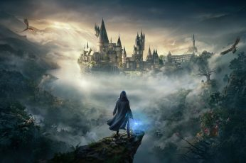Wallpaper Hogwarts Legacy, Video Games, Dragon, Owl, Harry potter