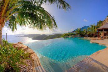 Wallpaper Infinity Pool, Nature, Landscape, Resort, Swimming