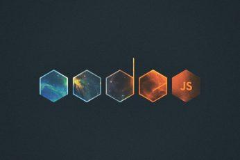 Wallpaper Javascript, Node.Js, Abstract, Logo