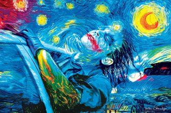 Wallpaper Joker Abstract Painting, Artwork, Water, Multi