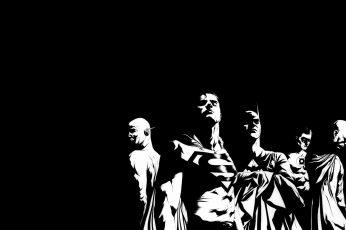 Wallpaper Justice League Bw Black Superman Batman The Flash