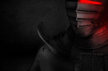 Wallpaper Knight Illustration, Black, Red, Hp Omen