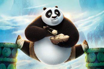 Wallpaper Kungfu Panda Po, Action, Nature, Green, Smile