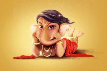 Wallpaper Lord Ganesha, Cute, Digital Art, Hd, 4k, Ganesh