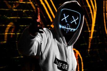 Wallpaper Neon Man Wearing White California Pullover Hoodie