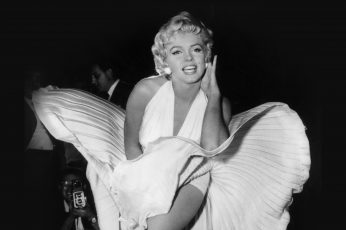 Wallpaper Marilyn, Monroe, Dark, Bw, Celebrity, Smiling