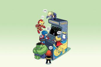 Wallpaper Marvel Avengers, Comics, Baby Avengers