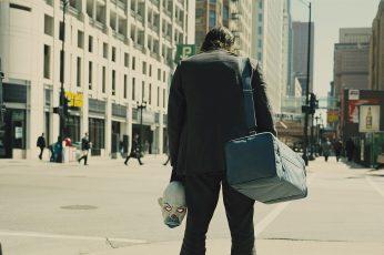 Wallpaper Men's Gray Suit Jacket And Gray Pants, Joker