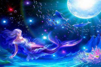 Wallpaper Mermaid Digital, Fantasy, Colorful