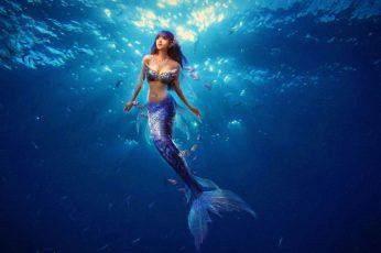 Wallpaper Mermaid Illustration, Mermaids, Underwater, Sea