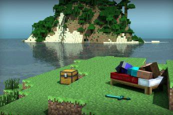 Wallpaper Minecraft Digital Wallpaper