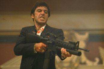 Wallpaper Movie, Scarface, Al Pacino, Gun, Tony Montana