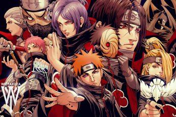 Wallpaper Naruto Akatsuki Illustration, Anime, Akatsuki