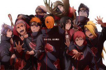 Wallpaper Naruto Akatsuki, Anime