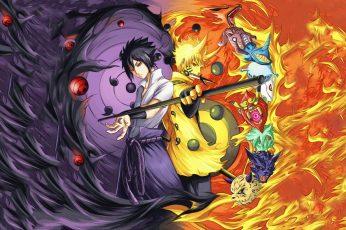 Wallpaper Naruto And Sasuke, Naruto Shippuuden