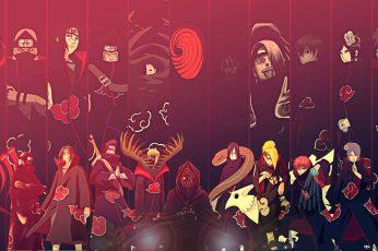 Wallpaper Naruto Shippuden Team Akatsuki Digital Wallpaper