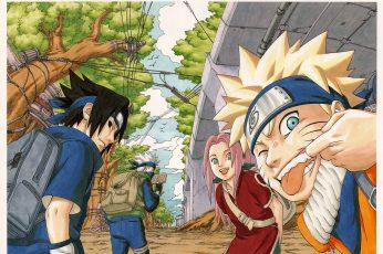 Wallpaper Naruto Team 7 Digital, Naruto Shippuden