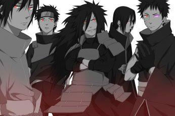 Wallpaper Naruto Uchiha Clan Illustration, Anime, Itachi
