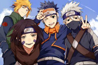Wallpaper Naruto, Anime, Kakashi Hatake, Minato