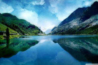 Wallpaper Nature Art Lake Digital Wallpaper, Body Of Water