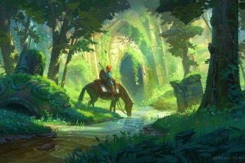 Wallpaper Nature Art Person Riding Horse