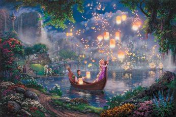 Wallpaper Nature Art Tangle Rapunzel In Boat Photo, Flowers