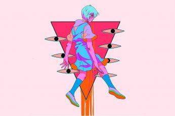 Wallpaper Neon Genesis Evangelion, Ayanami Rei, Anime Girl