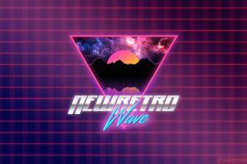Wallpaper New Retro Wave Logo, Synthwave, Neon, 1980s