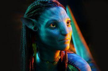Wallpaper Neytiri From Avatar Movie, Face, Aliens